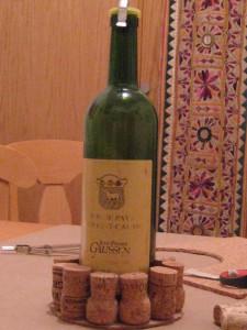 wine trivet complete